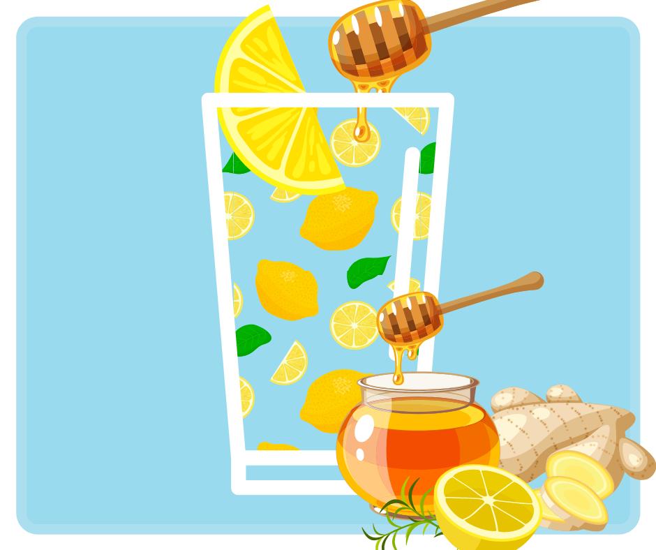 Przepis na wodę z cytryną, miodem i imbirem