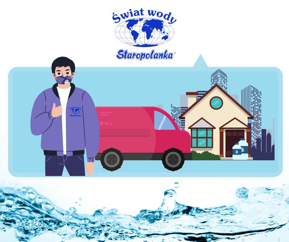 Darmowa dostawa wody na terenie Rybnika i okolic - P.P.U.H. Import-Export Henryk Pisarek Świat Wody